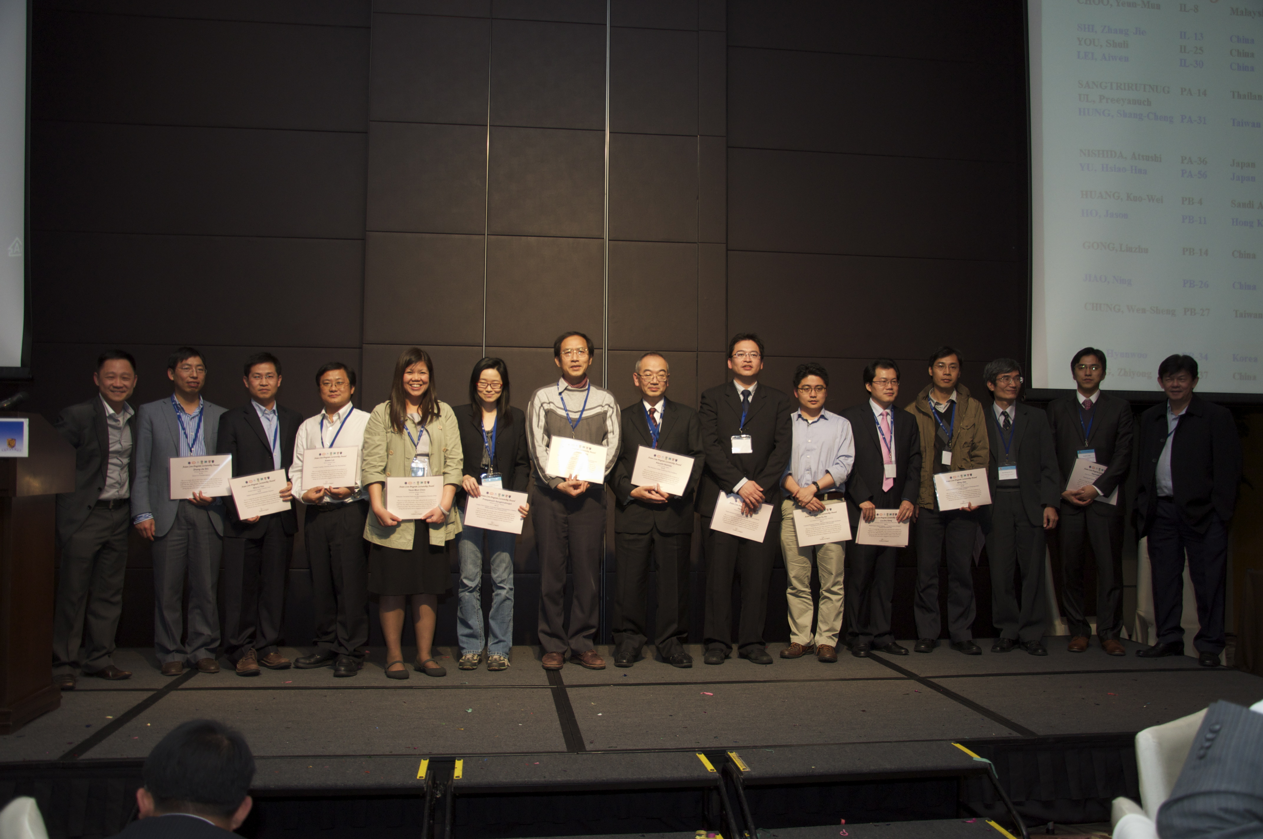 Prof. Jason C.Y. Ho received an Asian Core Program (ACP) Lectureship Award to Singapore.