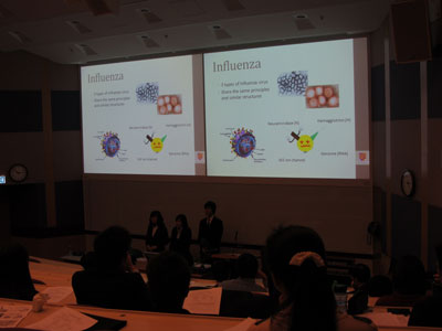 CUHK Team made a presentation on the crucial role of chemistry to the discovery and production of pharmaceuticals.