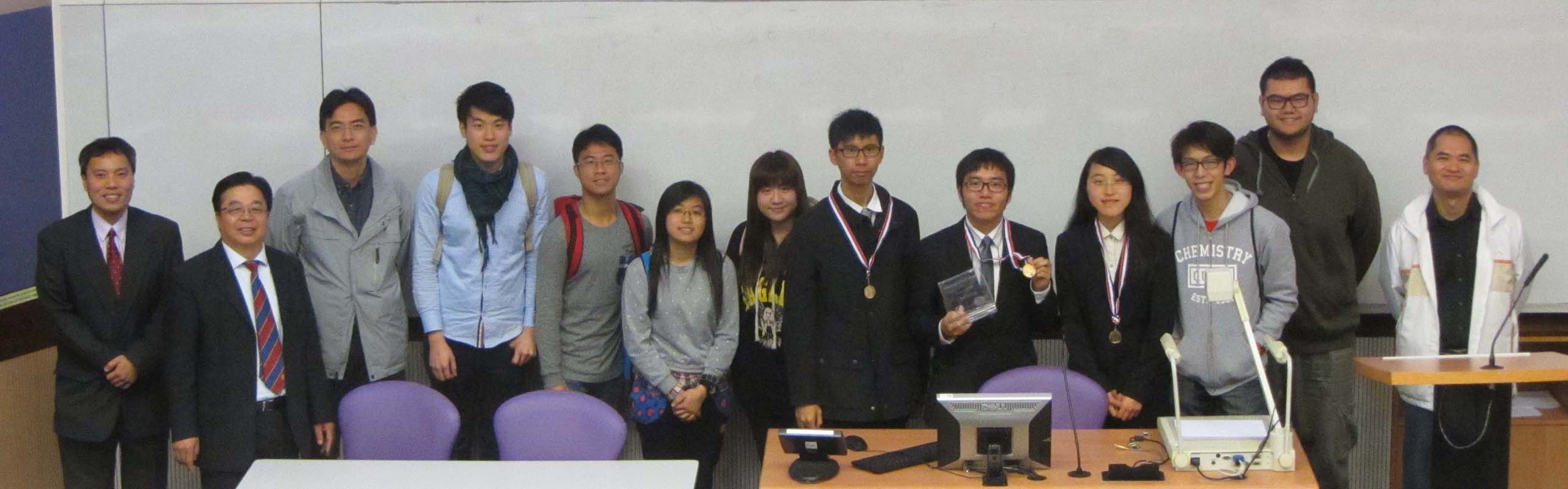 CUHK Team taking photo with the Chairman and teaching staff