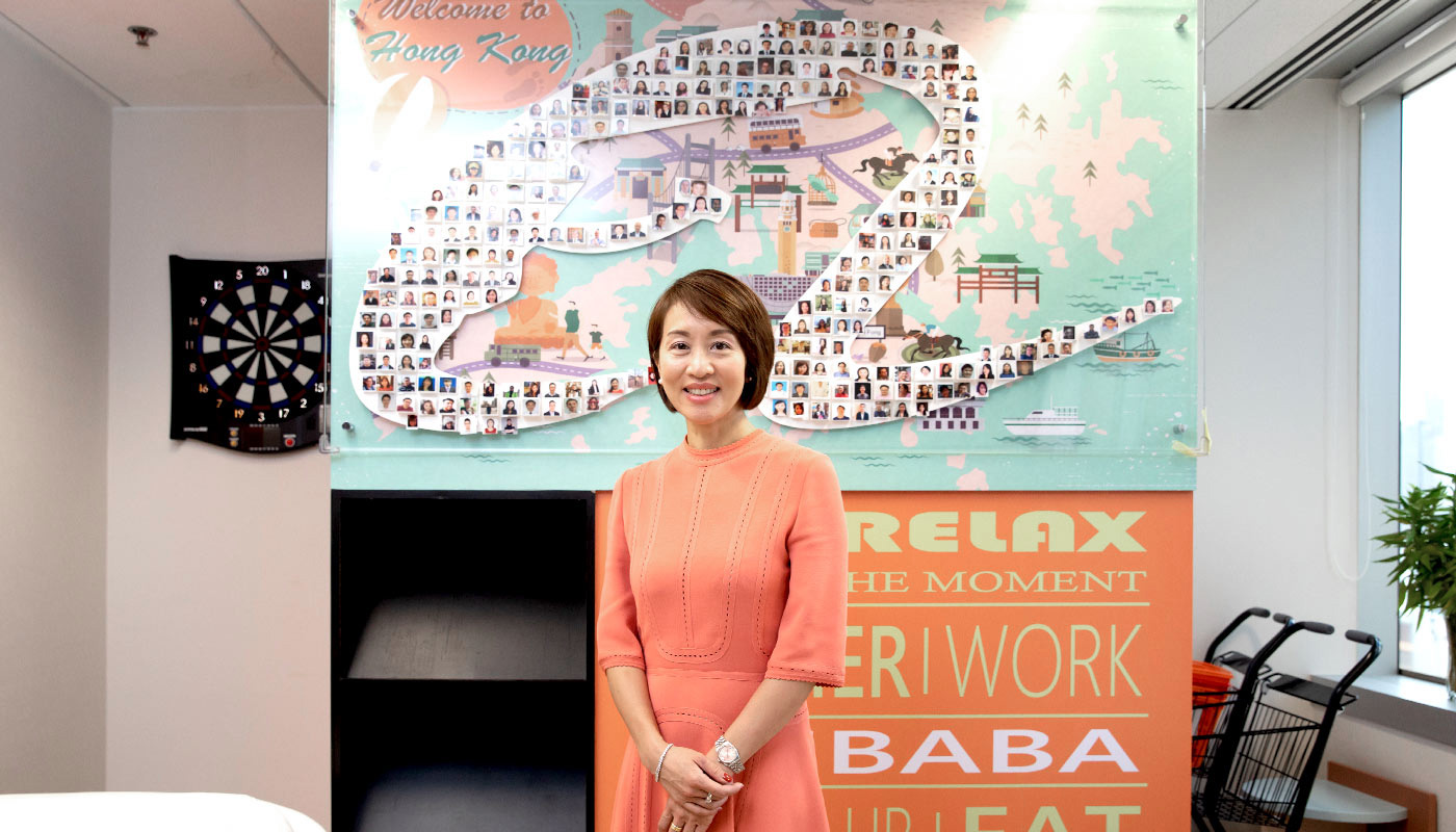 Cindy embodies the Alibaba motto of 'Have fun at work. Be earnest in life.'