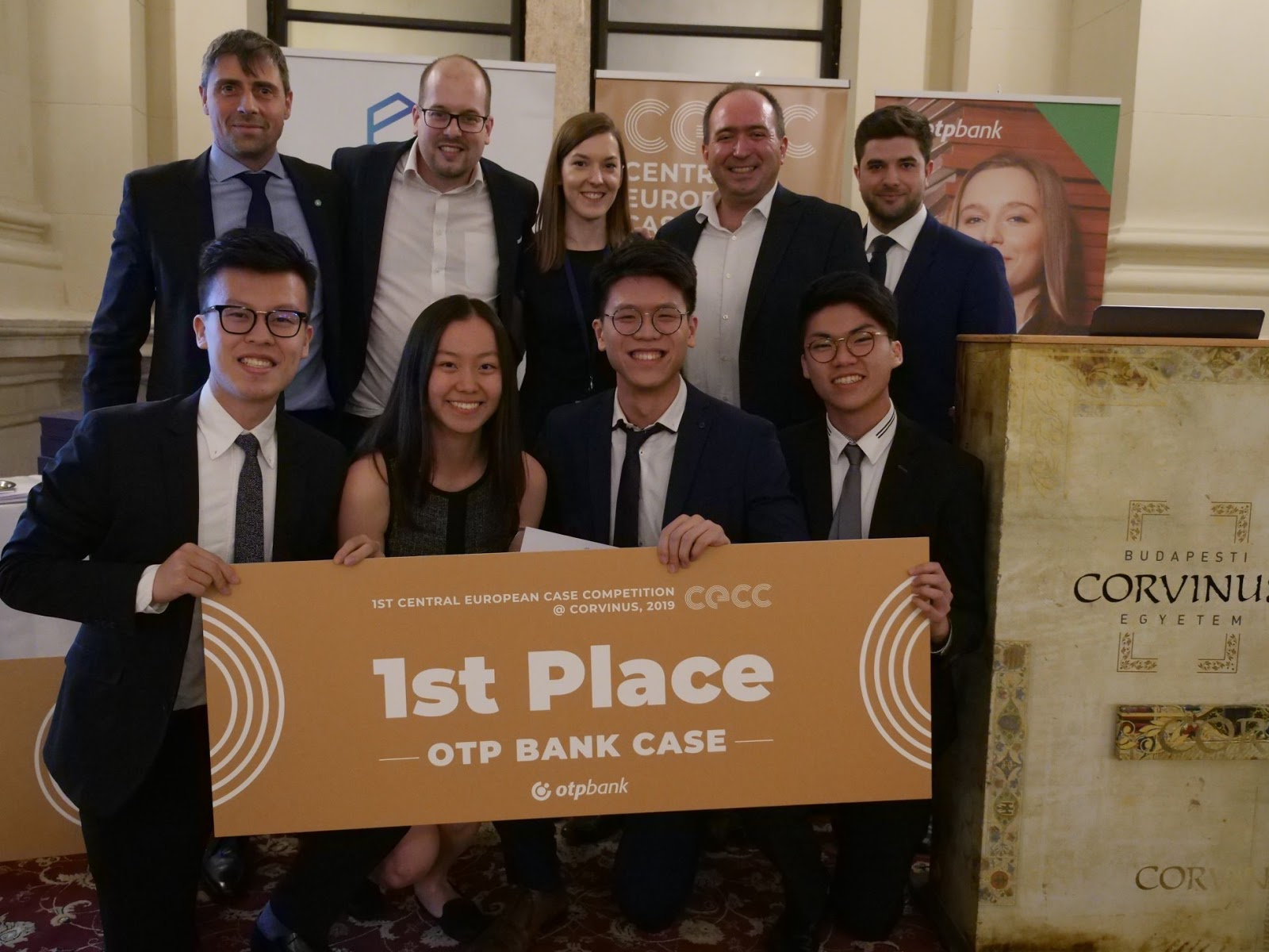 Batch 9 students triumphed at the 2019 Central European Case Competition