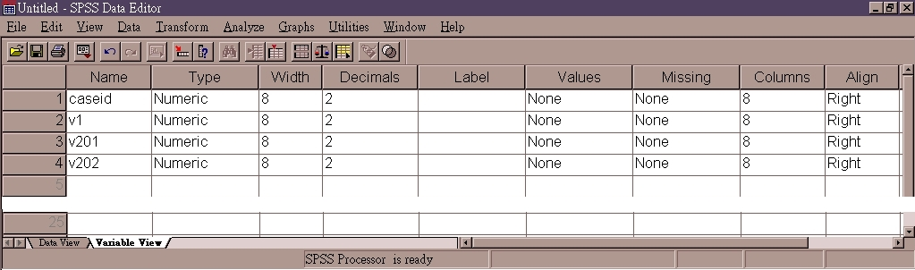 how to delete a column in spss