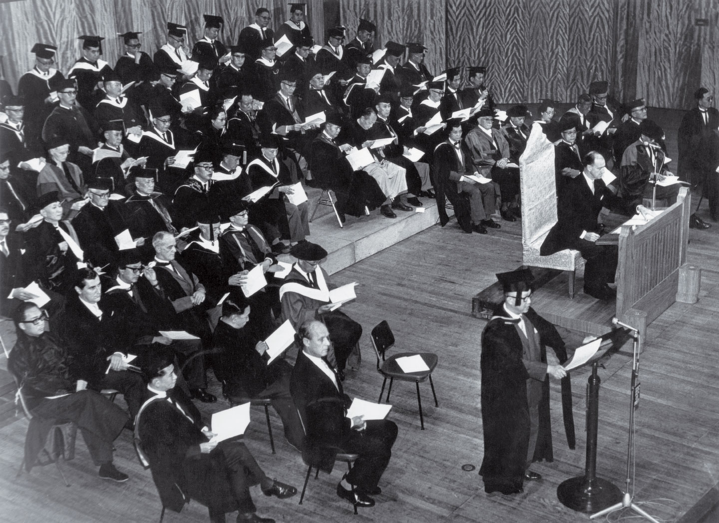 Inauguration congregation of CUHK (1963.10.17)
