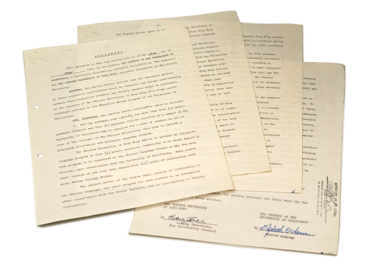 The agreement with the University of California (1965)
