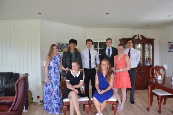 photo: Herman Chung and his Norwegian friend and her family