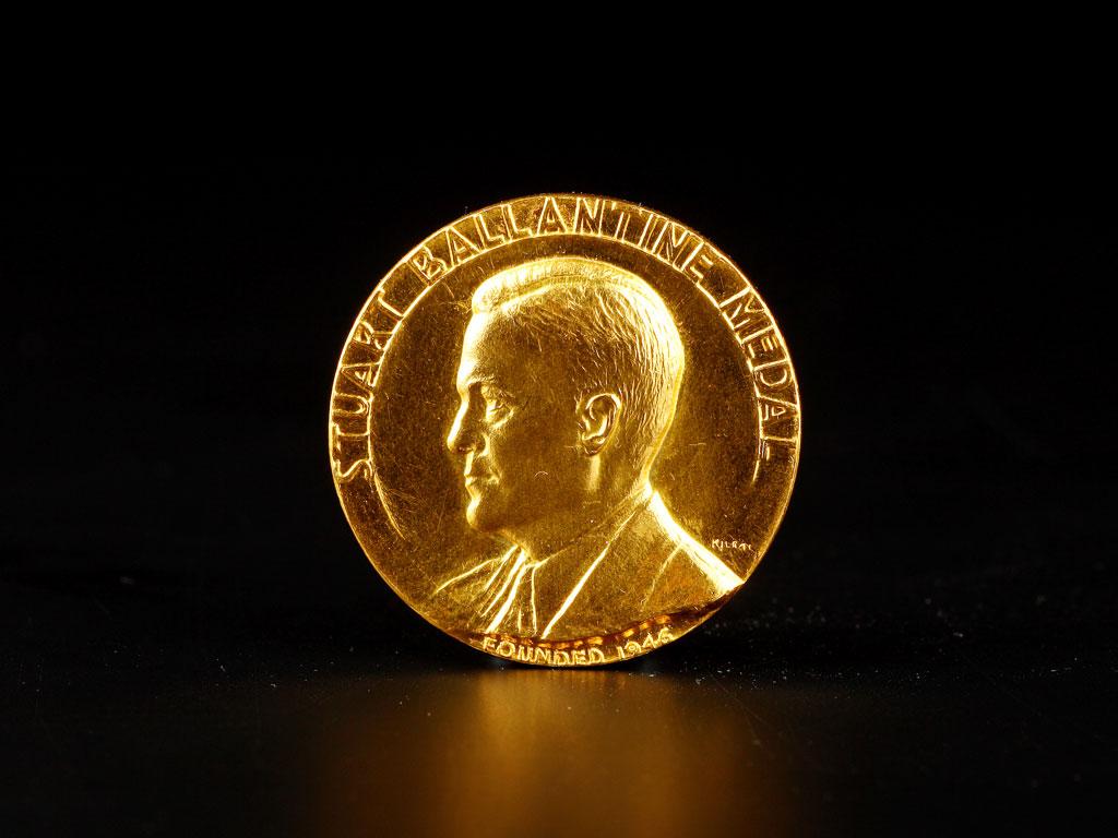 Professor Charles K. Kao's Stuart Ballantine Medal (1977)